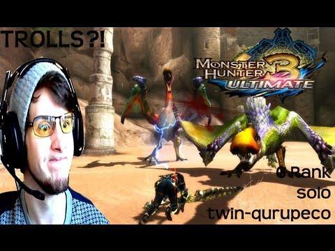 Monster Hunter 3 Ultimate -TROLLING ME SO HARD...-Twin Qurupeco-G Rank