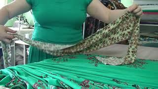 пошив летнего платья из купонной ткани видео 1