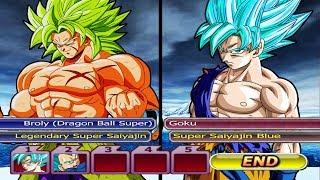Baixar Broly DBS Super Saiyajin Legendary VS Goku and Vegeta Super Saiyajin Blue | DBZ Budokai Tenkaichi 3