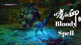 Bloody Spell - Gameplay & Boss Fight / Dark Souls type game (PC)