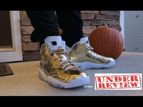 hot sale online f09a9 d58a3 AIR JORDAN 6 PINNACLE GOLD RETRO SHOE LEGIT REVIEW + ON FEET
