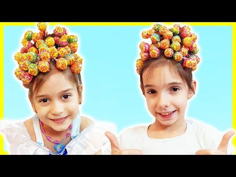Hairstyle Chupa Chups Lollipops -تسريحة جميلة للشعر - Mara și Teo