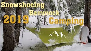 Hammock camping in tнe snow