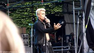 Billy Idol - Love And Glory (new song) 18.06.2014 Hamburg, Stadtpark