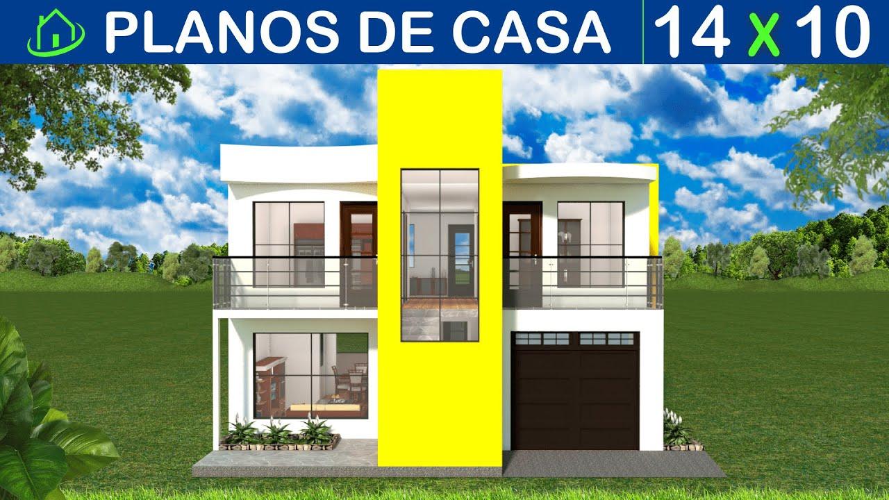 Planos Diseños Casas Dos Pisos Fachadas Modernas Garaje 4