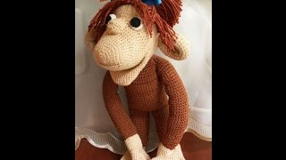 Обезьянка крючком-подробное описание.Crochet Toy Monkey Tutorial.Обезьянка амигуруми видео урок