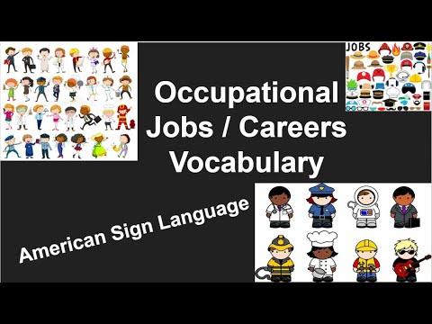 ASL Occupational Jobs Voc Unit