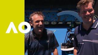 Enqvist/Wilander and Ferreira/Ivanisevic on-court interview (RR) | Australian Open 2019