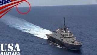 南シナ海で中国艦に追跡される米海軍の沿海域戦闘艦 - China Navy Stalking the US Navy Warship in South China Sea