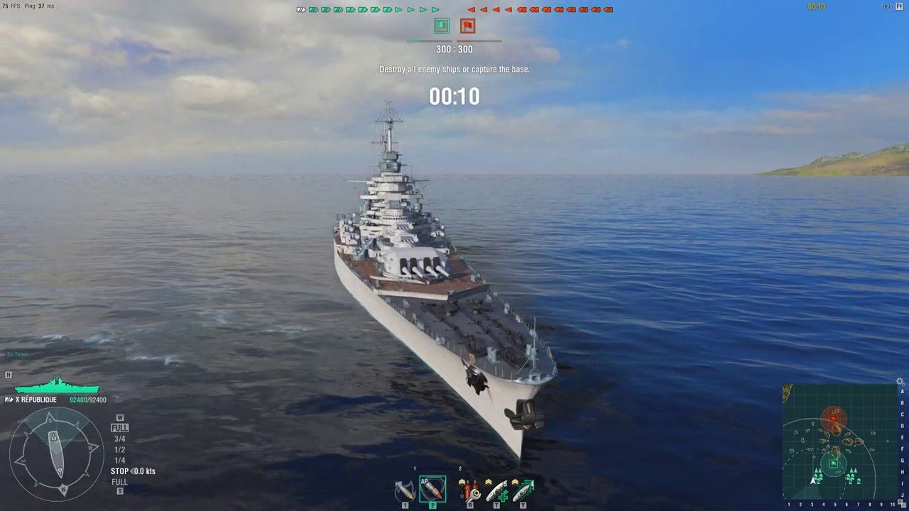 World of Warships (Asia) République Gameplay 2019 01 24