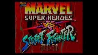 MARVEL VS STREET FIGHTER SATURN JP 4MB IMPORT VERSION