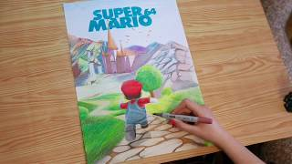 Speed Drawing Super Mario 64 Fan Art