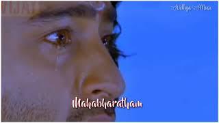💕Arjunan&Karnan💕 💙 Mahabharatham 💙 Heart Touching 💛Scene And Song🎶🎶 Tamil Whatsapp Status