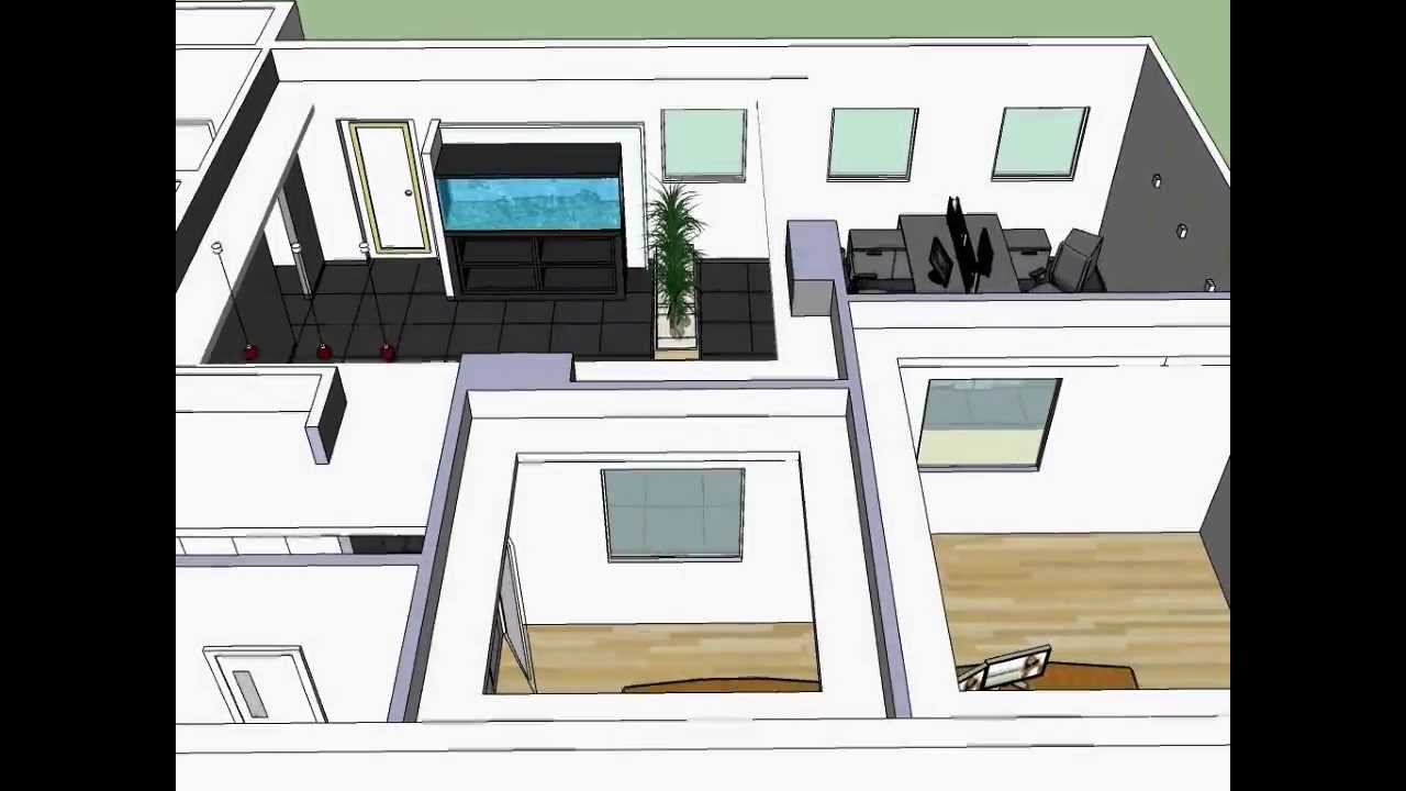 small office design in sketchup - YouTube