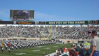 2017 Michigan State Football Spartan Marching Band Introduction