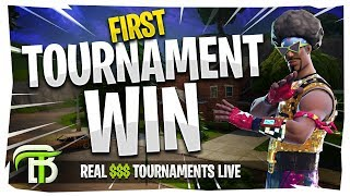 MY FIRST EVER TOURNAMENT WIN | FORTNITE REAL $$$ TOURNAMENTS LIVE
