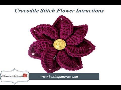 Crocodile Stitch Flower Youtube