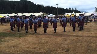 Simon Fraser University Pipe Band Grade 1 medley. Enumclaw Highland Games 2015