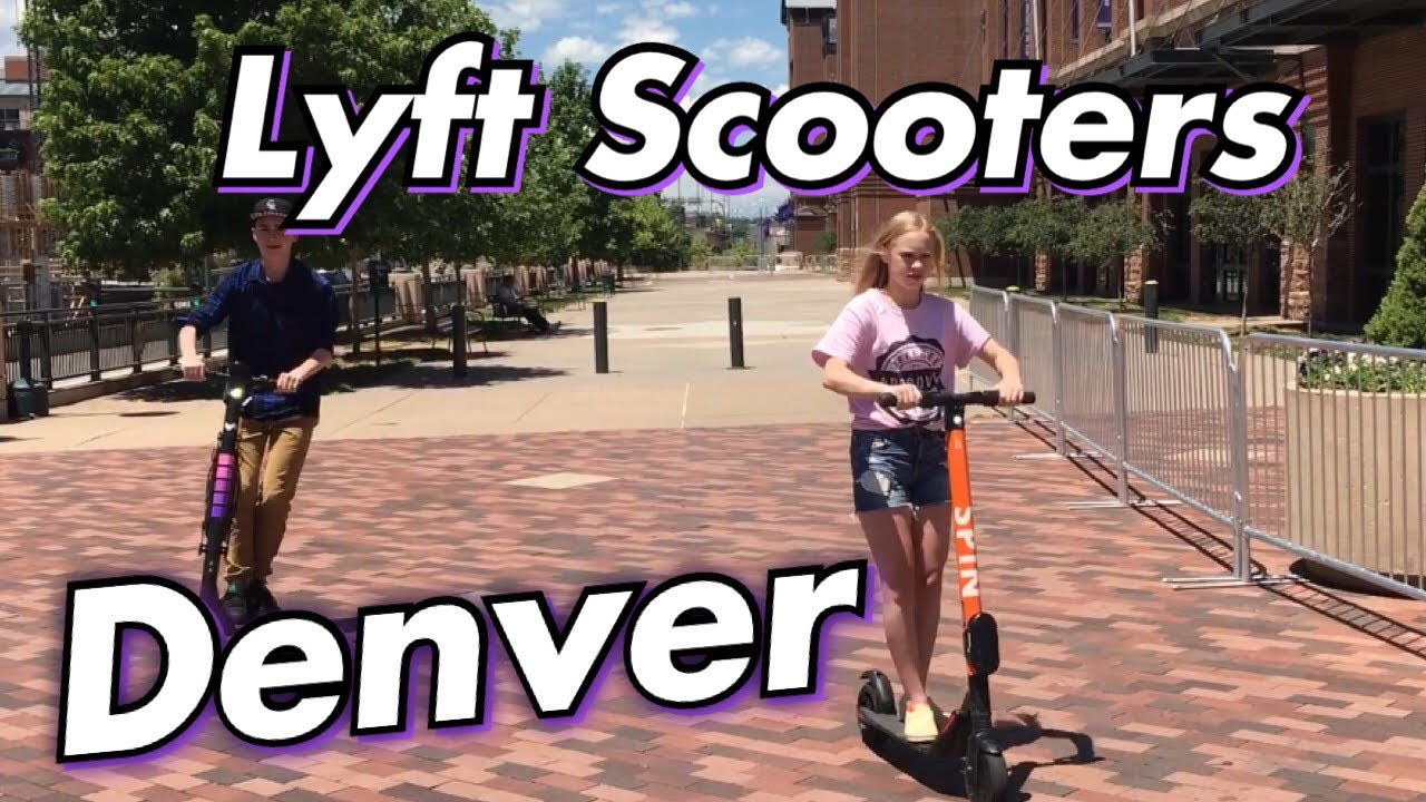 Riding Spin & Lyft Scooters downtown Denver (Promo Code: BRICKECY)