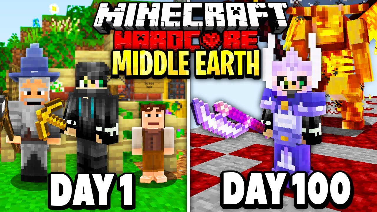 Download I Survived 100 Days in Middle Earth on Minecraft.. Here's What Happened..