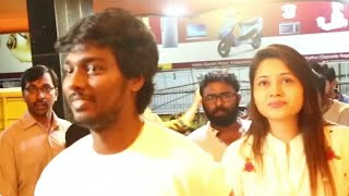 atlee priya atlee lyricist vivek mersal team at mersal fdfs in vettri theatre bb