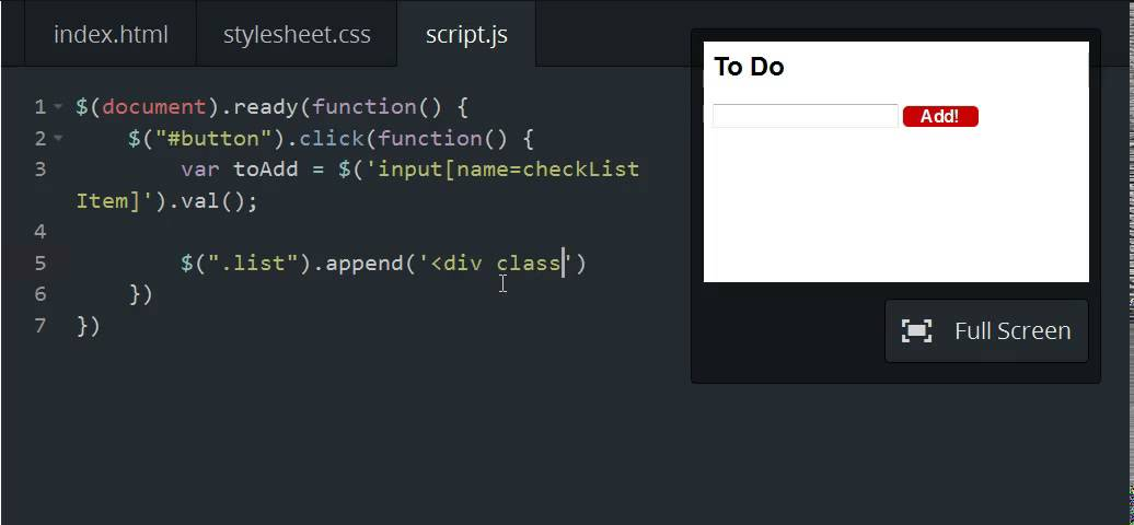 Codecademy: jQuery - Append to Body - YouTube