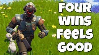 Four Wins Feels Good: Getting some skill back (Fortnite Stream)