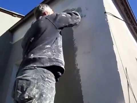 Короед. Нанесение декоративной штукатурки на стены. Утепление дома в Днепре, в Москве и обл.