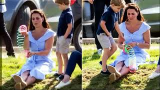 Kate Plays With George And Charlotte At Royal Charity Polo