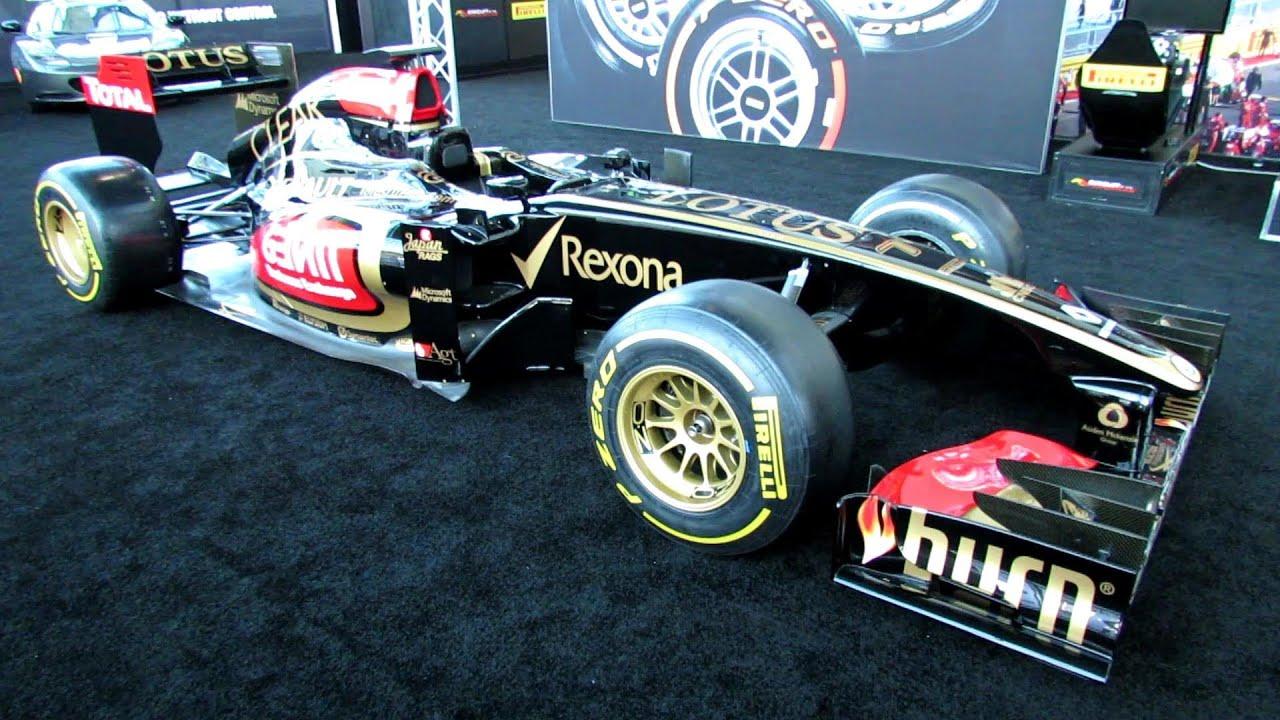 Lotus Renault F Racing Car Exterior And Interior Walkaround - F1 show car