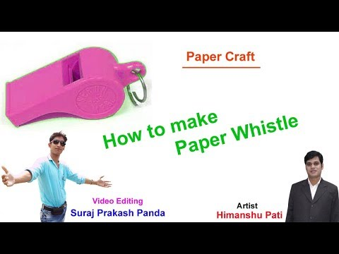 Paper Whistle  || How to make Paper Whistle
