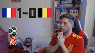 REACCIONES DE UN HINCHA Francia VS Bélgica 1-0   Mundial Rusia 2018