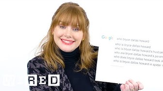 Bryce Dallas Howard Answers the Web's Most Searched Questions | WIRED
