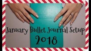 Plan With Me: January 2018 Bullet Journal & Setup | Brandi Noelle