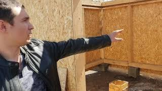 Строительство сруба бани 4 на 4 с хоз блоком