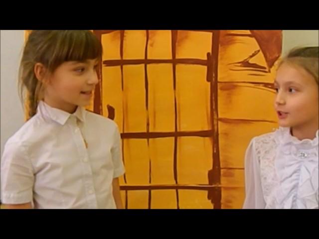 Изображение предпросмотра прочтения – «4 класс А, МБОУ Школы №10, города Сарова» читают произведение «Кукушка и Петух» И.А.Крылова