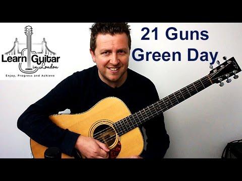 Green Day  - 21 Guns - Easy Acoustic Guitar Lesson - Drue James