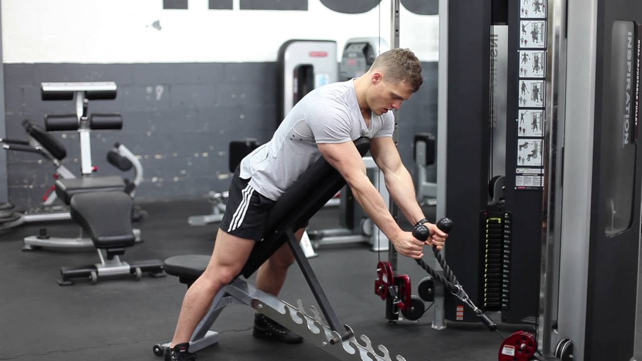 Chest Supported Cable Spider Curls Rope Attachment Youtube