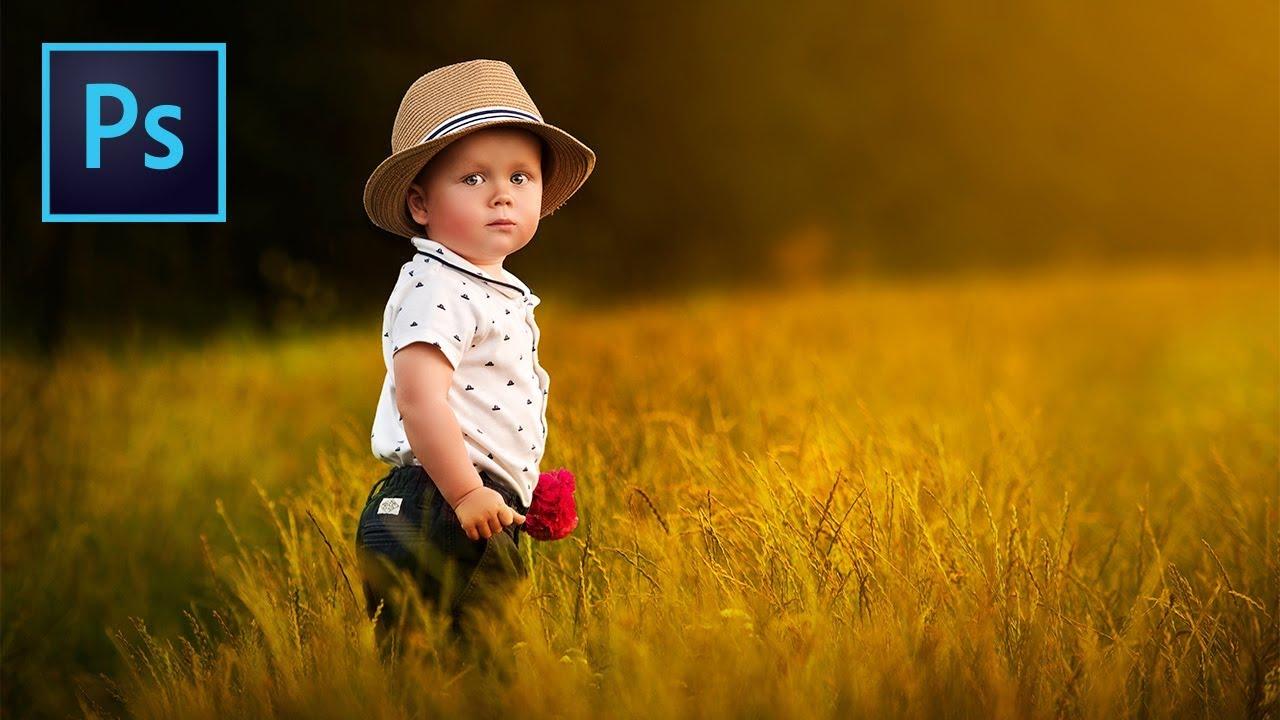 """Soft"" Style Dreamy Child Portrait Edit In Photoshop"