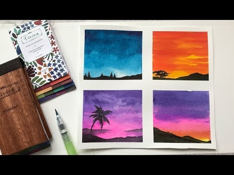 sky watercolor ideas for