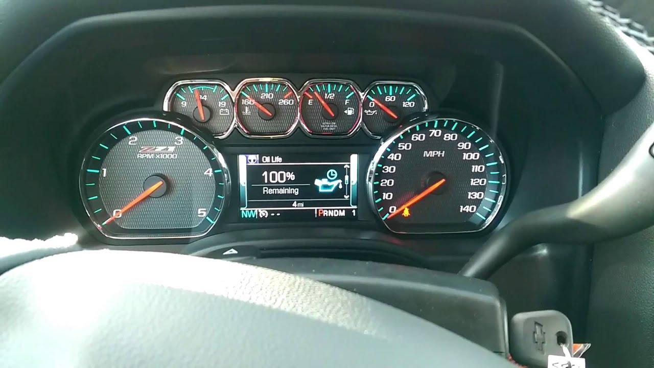 2017 2018 Chevy Silverado Reset Oil Life Monitor