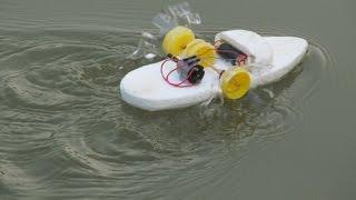 Como fazer com que um barco da roda de pás -  Tornando brinquedo
