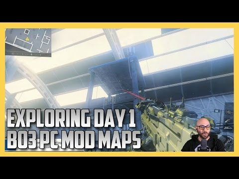 Exploring The First BO3 Mod Tools Maps  (Black Ops 3 Custom Maps)