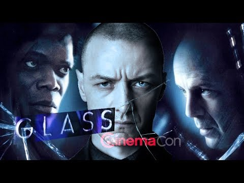 GLASS TRAILER REACTION & DESCRIPTION - M. Night Shyamalan, Bruce Willis - CinemaCon 2018