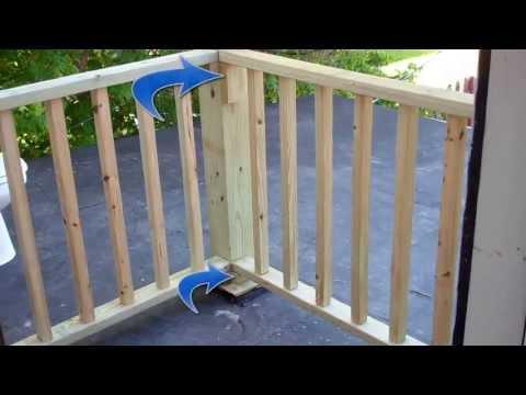 Building Balcony Railing over flat roof  7-11-13