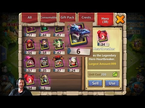 The INSANE Badass Account Rolling For Anubis 34 HeartBreakers Castle Clash