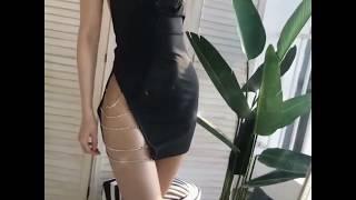 큐빅가터슬립원피스 섹시원피스 섹시슬립 무대의상 촬영의상…