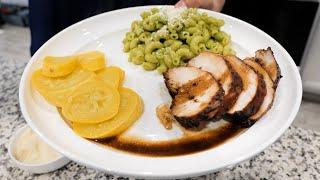 Juicy Chicken Marinade Recipe + Green Pasta Recipe  Family dinner recipe