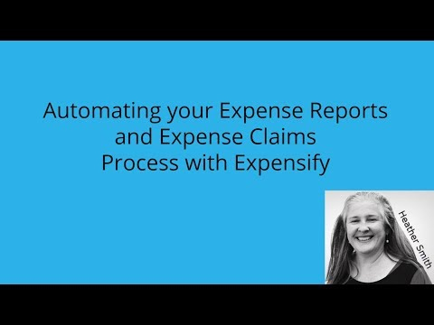 Automating your Expense Reports and Expense Claims