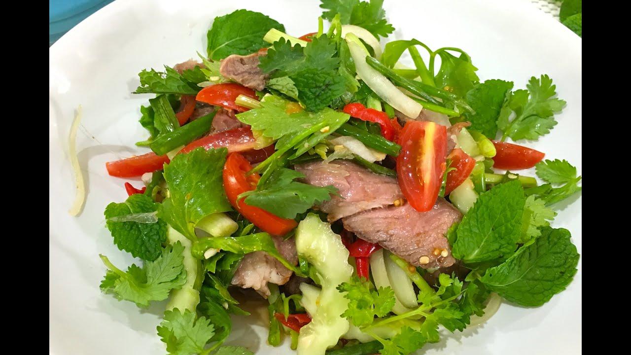 thai beef salad yam neua yang youtube. Black Bedroom Furniture Sets. Home Design Ideas